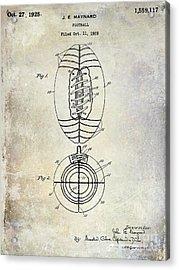 1925 Football Patent Drawing Acrylic Print by Jon Neidert