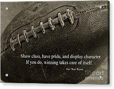 Football Show Class Acrylic Print by Paul Ward