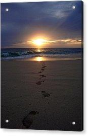 Footprints Acrylic Print by Kelly Jones