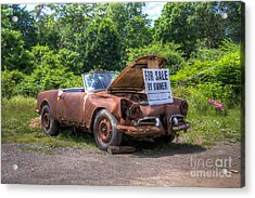 For Sale By Owner Acrylic Print by Rick Kuperberg Sr