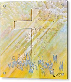 For The Cross Acrylic Print by Cassie Sears