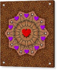 For The Love Of Hearts Acrylic Print by Pepita Selles