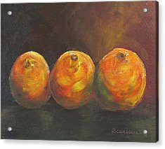 For The Love Of Three Oranges Acrylic Print by Susan Richardson