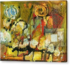 For Your Eyes Only Abstract Art Acrylic Print by Blenda Studio