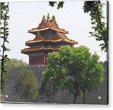 Forbidden City Building 3 Acrylic Print by Kay Gilley