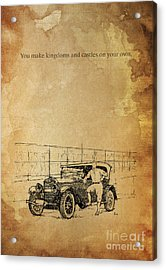 Ford And The Baseball Star Acrylic Print by Pablo Franchi