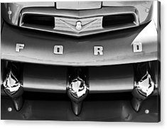 Ford F-1 Pickup Truck Grille Emblem Acrylic Print by Jill Reger