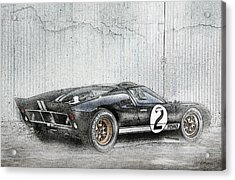 Ford Gt40 Acrylic Print by Peter Chilelli