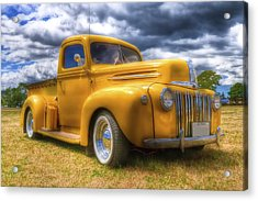 Ford Jailbar Pickup Hdr Acrylic Print by Phil 'motography' Clark