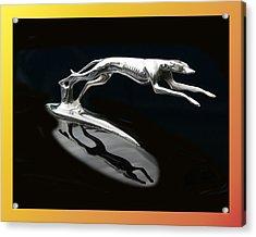 Ford Lincoln Greyhound Mascot Acrylic Print by Jack Pumphrey