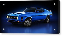Ford Mustang Mach 1 - Slipstream Acrylic Print by Marc Orphanos