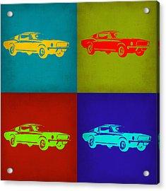 Ford Mustang Pop Art 1 Acrylic Print by Naxart Studio