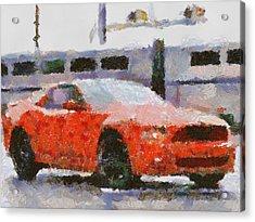 Ford Mustang V6 2013 Acrylic Print by Teara Na