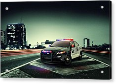 Ford Police Interceptor Acrylic Print by Movie Poster Prints
