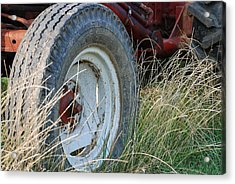 Ford Tractor Tire Acrylic Print by Jennifer Ancker