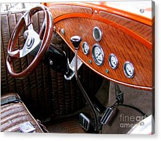 Ford V8 Dashboard Acrylic Print by Mary Deal