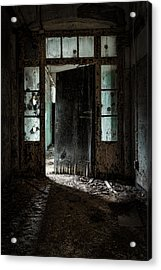 Foreboding Doorway Acrylic Print by Gary Heller