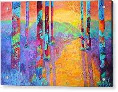 Forest Fantasy Acrylic Print by Nancy Jolley