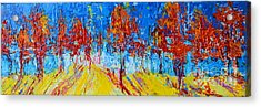 Tree Forest 4 Modern Impressionist Landscape Painting Palette Knife Work Acrylic Print by Patricia Awapara