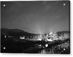 Forest Of Stars Above The Chapel On The Rock Bw Acrylic Print by James BO  Insogna