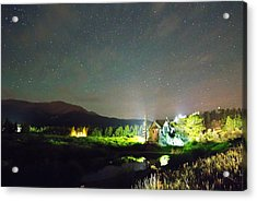Forest Of Stars Above The Chapel On The Rock Acrylic Print by James BO  Insogna