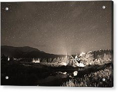 Forest Of Stars Above The Chapel On The Rock Sepia Acrylic Print by James BO  Insogna