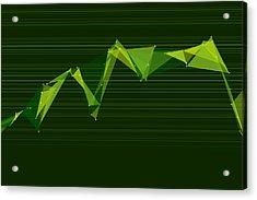 Forest Polygon Triangle Graph Acrylic Print by Frank Ramspott