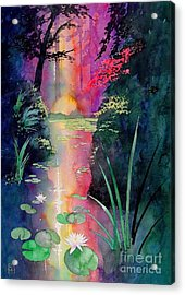 Forest Pond Acrylic Print by Robert Hooper