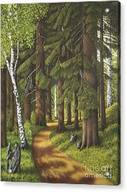 Forest Road Acrylic Print by Veikko Suikkanen