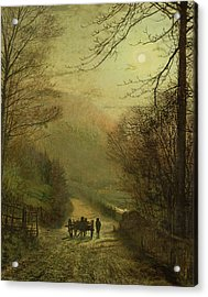 Forge Valley, Scarborough Acrylic Print by John Atkinson Grimshaw