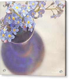 Forget Me Nots In Blue Vase Acrylic Print by Lyn Randle