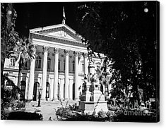 former national congress building Santiago Chile Acrylic Print by Joe Fox