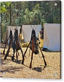 Fort Anderson Civil War Re Enactment 3 Acrylic Print by Jocelyn Stephenson