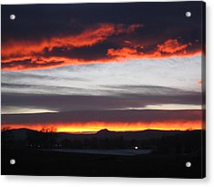 Fort Collins Co Sunset In February Acrylic Print by Tammy Sutherland
