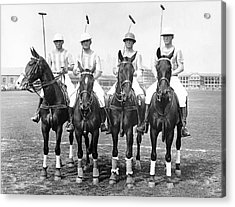 Fort Hamilton Polo Team Acrylic Print by Underwood Archives
