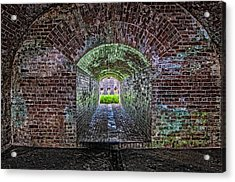 Fort Macomb Tunnel Acrylic Print by Andy Crawford