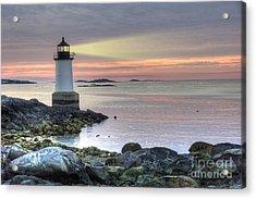 Fort Pickering Lighthouse At Sunrise Acrylic Print by Juli Scalzi