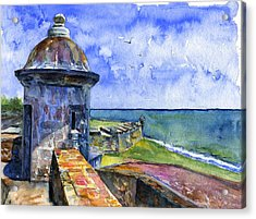 Fort San Juan Puerto Rico Acrylic Print by John D Benson