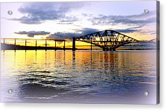 Forth Rail Bridge At Sunset Acrylic Print by The Creative Minds Art and Photography