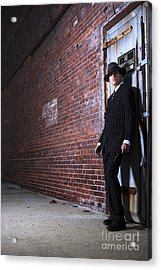Forties Style Film Noir Gangster Acrylic Print by Diane Diederich