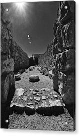 Fortress Of Masada Israel 2 Acrylic Print by Mark Fuller
