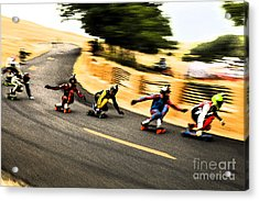 Acrylic Print featuring the photograph Fos Art 2014  by Carl Warren