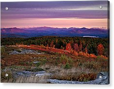 Foss Mountain Sunrise Eaton Nh Acrylic Print by Jeff Sinon