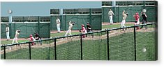 Foul Ball 3 Panel Composite Acrylic Print by Thomas Woolworth