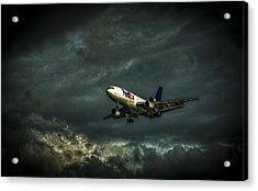 Foul Weather Fedex Acrylic Print by Marvin Spates