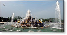 Fountain In A Garden, Bassin De Latone Acrylic Print by Panoramic Images