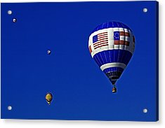 Four Balloons Up Acrylic Print by Andy Crawford