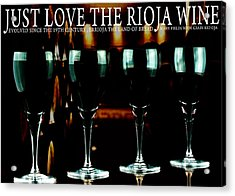 Four Glasses Of Rioja Wine Acrylic Print by Toppart Sweden