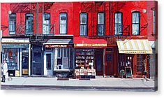 Four Shops On 11th Ave Acrylic Print by Anthony Butera