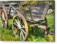 Four Wheels But No Horse Acrylic Print by Heiko Koehrer-Wagner
